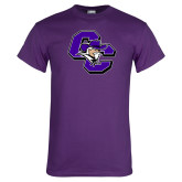 Purple T Shirt-CC with Colonel Head