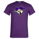 Purple T Shirt-Colonel Head