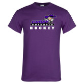 Purple T Shirt-Hockey