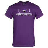 Purple T Shirt-Football Field