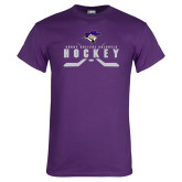 Purple T Shirt-Hockey Sticks