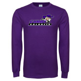 Purple Long Sleeve T Shirt-Curry Colonels