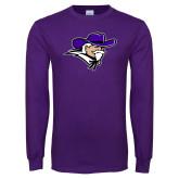 Purple Long Sleeve T Shirt-Colonel Head