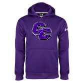 Under Armour Purple Performance Sweats Team Hoodie-CC
