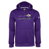 Under Armour Purple Performance Sweats Team Hoodie-Curry Colonels