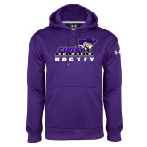 Under Armour Purple Performance Sweats Team Hoodie-Hockey