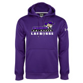 Under Armour Purple Performance Sweats Team Hoodie-Lacrosse