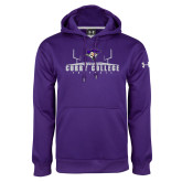 Under Armour Purple Performance Sweats Team Hoodie-Football Field
