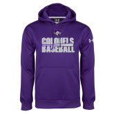 Under Armour Purple Performance Sweats Team Hoodie-Baseball Stacked