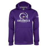Under Armour Purple Performance Sweats Team Hoodie-Tennis