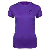Ladies Syntrel Performance Purple Tee-CC