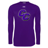 Under Armour Purple Long Sleeve Tech Tee-CC