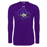 Under Armour Purple Long Sleeve Tech Tee-CC with Colonel Head