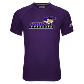 Adidas Climalite Purple Ultimate Performance Tee-Curry Colonels