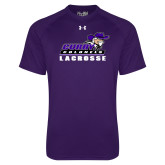 Under Armour Purple Tech Tee-Lacrosse