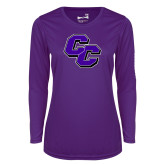 Ladies Syntrel Performance Purple Longsleeve Shirt-CC
