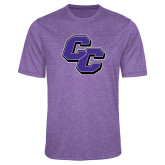Performance Purple Heather Contender Tee-CC