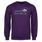 Purple Fleece Crew-Curry Colonels
