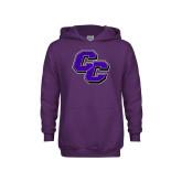 Youth Purple Fleece Hoodie-CC