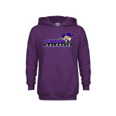 Youth Purple Fleece Hoodie-Curry Colonels