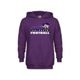 Youth Purple Fleece Hoodie-Football