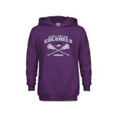 Youth Purple Fleece Hoodie-Lacrosse