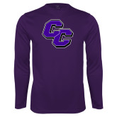 Performance Purple Longsleeve Shirt-CC
