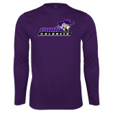 Performance Purple Longsleeve Shirt-Curry Colonels
