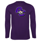 Performance Purple Longsleeve Shirt-CC with Colonel Head