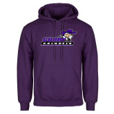 Purple Fleece Hoodie-Curry Colonels