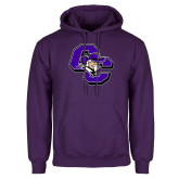 Purple Fleece Hoodie-CC with Colonel Head