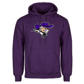 Purple Fleece Hoodie-Colonel Head