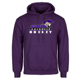 Purple Fleece Hoodie-Hockey