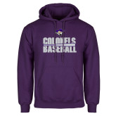 Purple Fleece Hoodie-Baseball Stacked