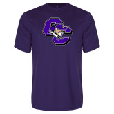 Performance Purple Tee-CC with Colonel Head