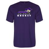 Performance Purple Tee-Hockey