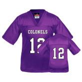 Youth Replica Purple Football Jersey-#12
