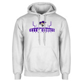 White Fleece Hoodie-Football Field