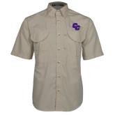 Khaki Short Sleeve Performance Fishing Shirt-CC