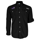 Columbia Bahama II Black Long Sleeve Shirt-Curry Colonels