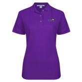 Ladies Easycare Purple Pique Polo-Curry Colonels