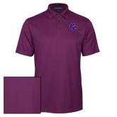 Purple Performance Fine Jacquard Polo-CC