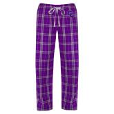 Ladies Purple/White Flannel Pajama Pant-CC