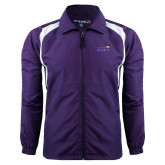 Colorblock Purple/White Wind Jacket-Curry Colonels