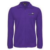 Fleece Full Zip Purple Jacket-Curry Colonels