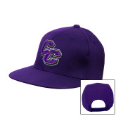 Purple Twill Flat Bill Snapback Hat-CC