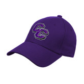 Purple Heavyweight Twill Pro Style Hat-CC