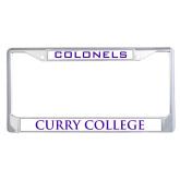 Metal License Plate Frame in Chrome-Colonels