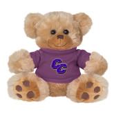 Plush Big Paw 8 1/2 inch Brown Bear w/Purple Shirt-CC