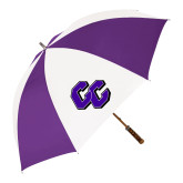 64 Inch Purple/White Umbrella-CC